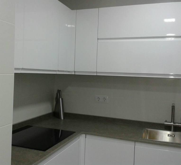 fotos cocina espacio pequeño color blanco