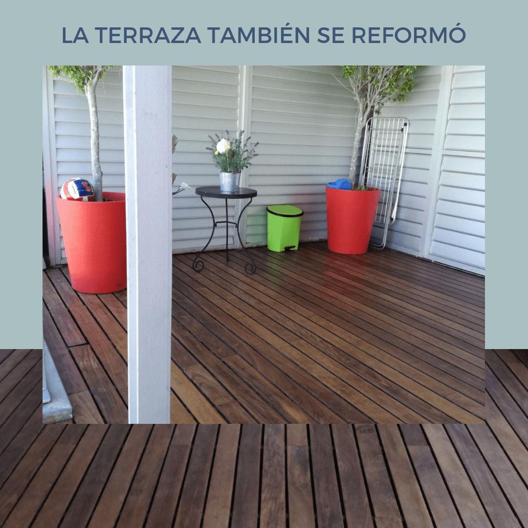 Reforma terraza.