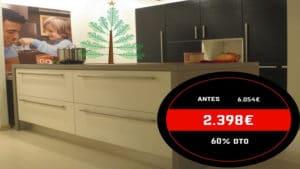 Oferta cocina modelo Samal madera lacada