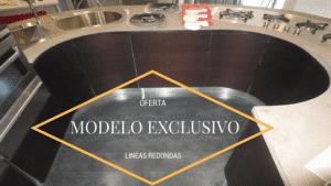Oferta cocina exposición modelo Samal Wenge de la marca Gatto Cucine