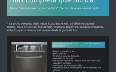 Siemens te regala el lavavajillas